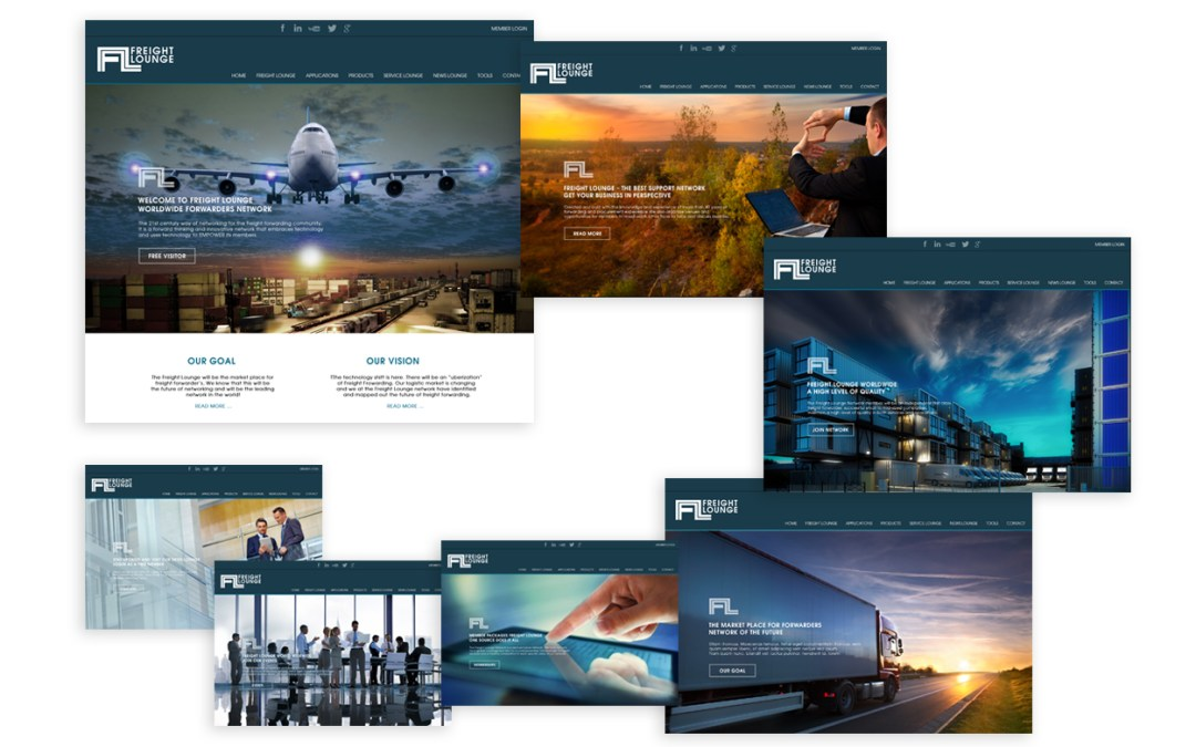Ontwerp webdesign Freight Lounge Network