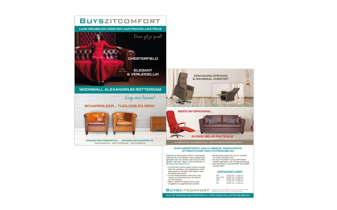 Flyer Ontwerp + opmaak – Buys Zitcomfort