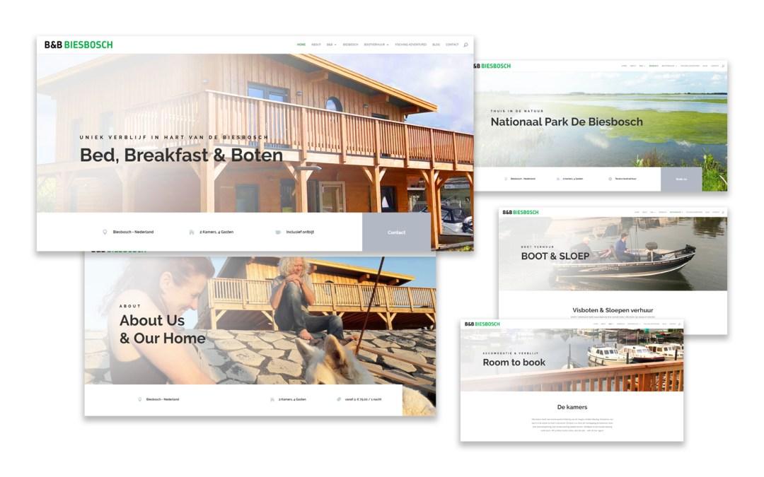 Webdesign & ontwikkeling Bed & Breakfast Biesbosch