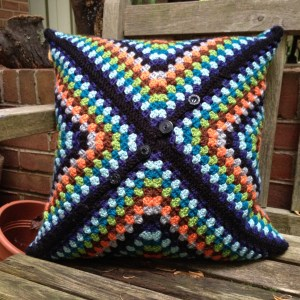 Back of Granny Square Pillow