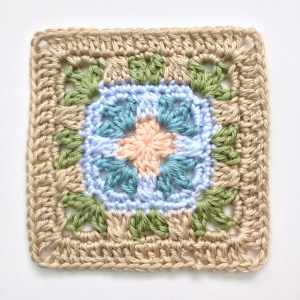 Mary, 6 inch afghan block