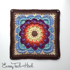fan dance crochet afghan block