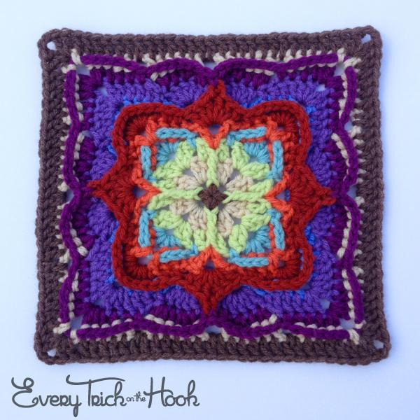 Victor, crochet afghan block