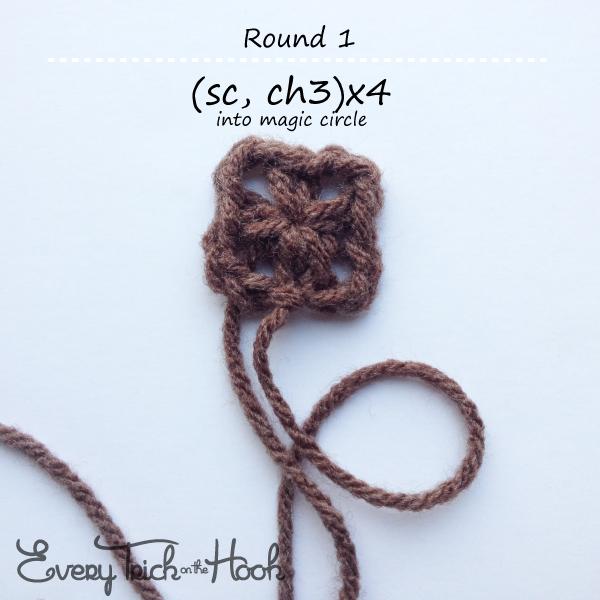 Victor, crochet pattern, round 1