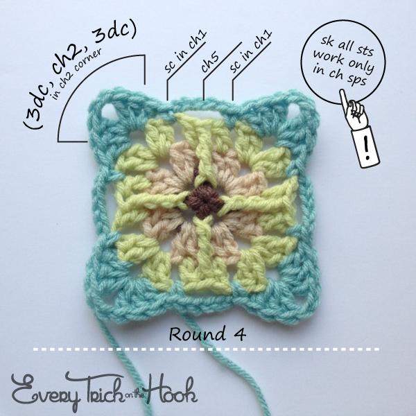 Victor, crochet pattern, round 4