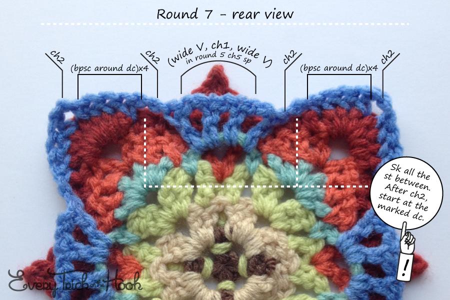 Victor, crochet pattern, round 7