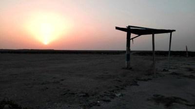 Sonnenuntergang am Masirah Beach Camp im Oman
