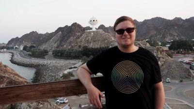 Marc Möllmann auf der Corniche in Matrah im Oman