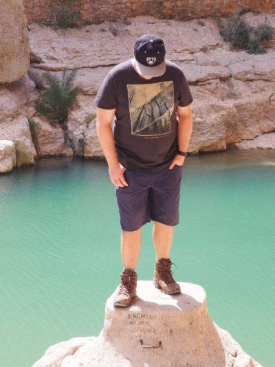 Marc Möllmann im Wadi Shab im Oman