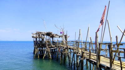 Steg am Sang Kha Ou Resort auf Ko Lanta