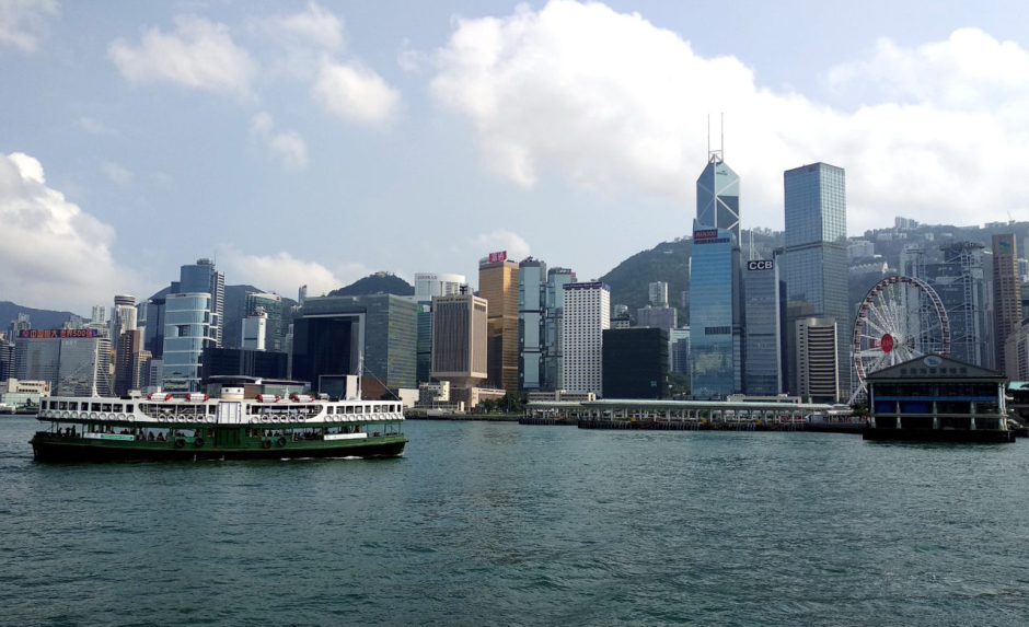 Star Ferry with Hong Kong Island