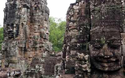 Gesichter aus Stein im Bayon