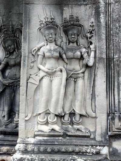 Religiöse Reliefs in Angkor Wat