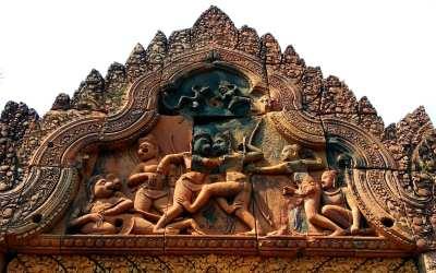 Ornamente in Banteay Srei