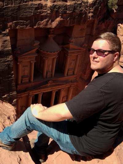 Oberhalb der Schatzkammer in Petra
