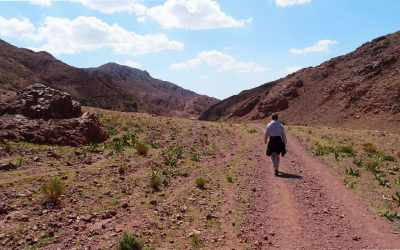 Wanderer-im-Wadi-Dana