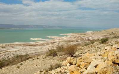 Salzablagerungen am Toten Meer