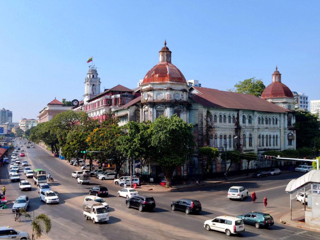Kolonialgebäude in Yangon
