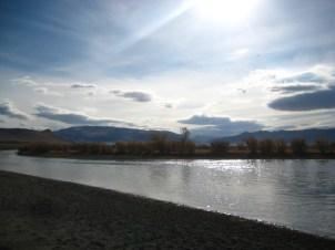 River we crossed on horseback