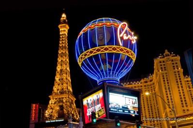 Las Vegas, Paris, Eiffel Tower, Montgolfier Balloon