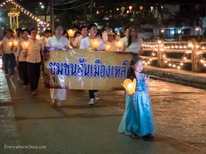 Loy Krathong Festival Parade, Chiang Rai Thailand