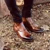 Burnished dark Tan Leather Boot - Lockheed 3