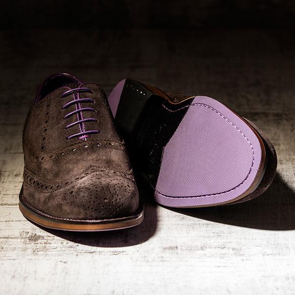 Brown Suede Italian Leather Brogue - Meteor 2