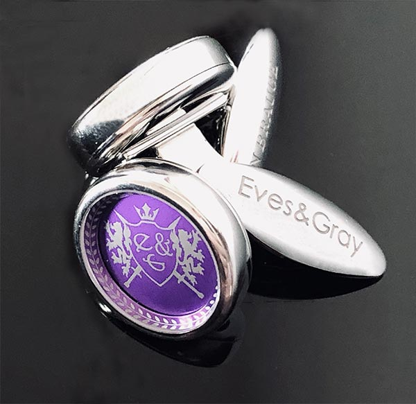 Eves & Gray Cufflinks 2 With Logo