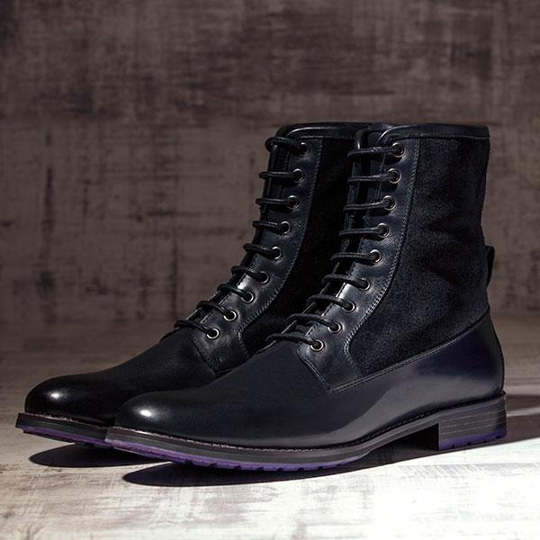Black Italian Leather Ankle Boot - Maxamillion Black 3