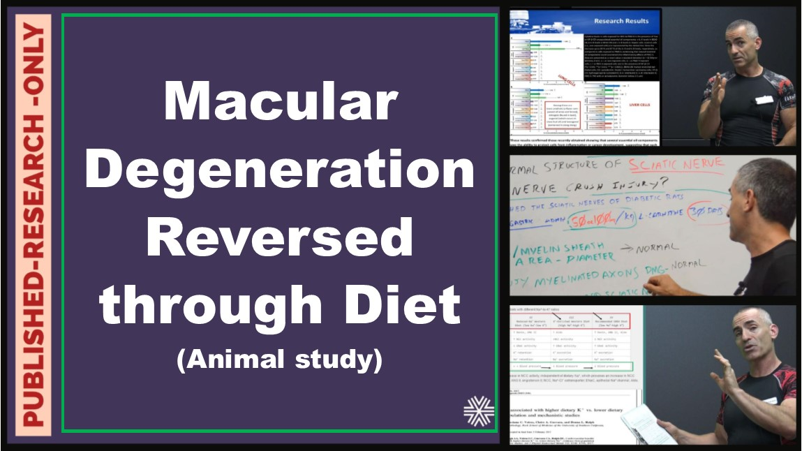 Macular Degeneration reversed through diet ( Animal Study)