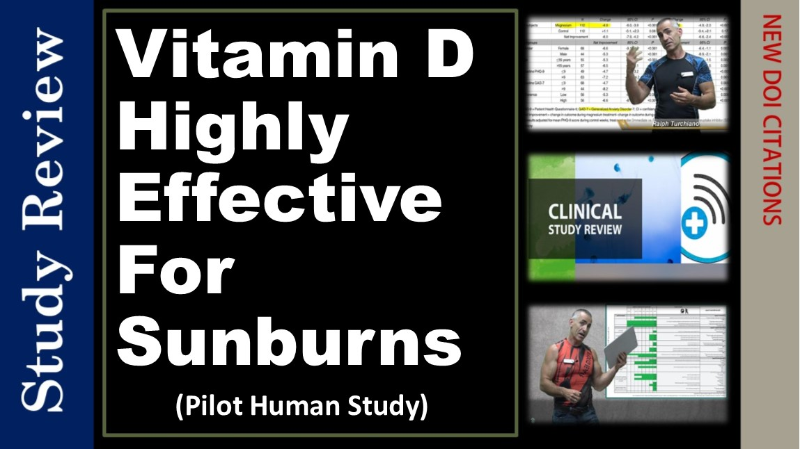 Sunburn effectively treated with Oral Vitamin D, Pilot Study