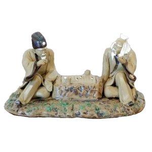 Two Scholars Figurine