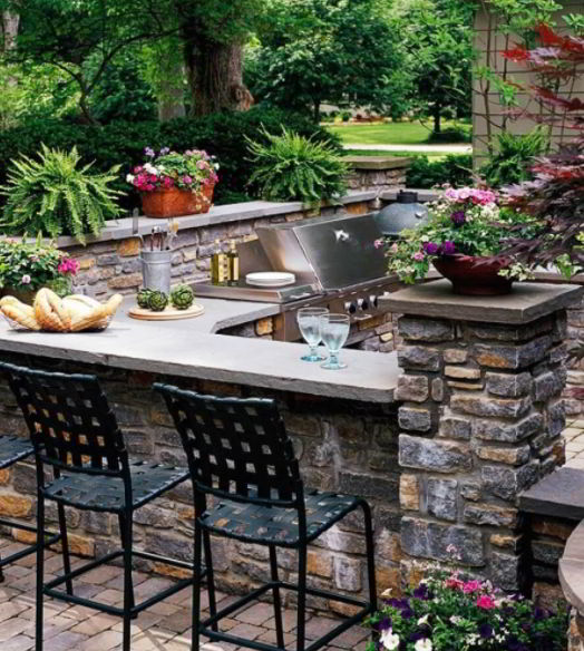 Paver grill ideas