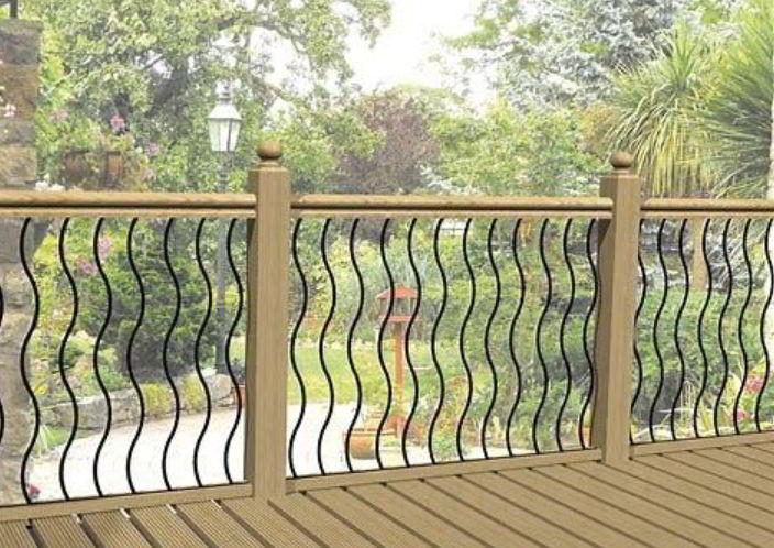 Deck Pattern Handrail Design