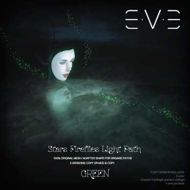 E.V.E (V) Stars Fireflies lights path GREEN