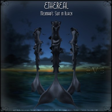 E.V.E (V) Ethereal Mermaid Suit Black