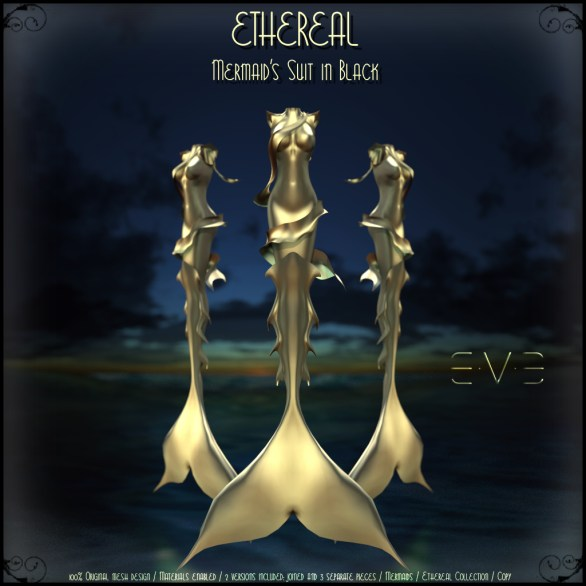 E.V.E (V) Ethereal Mermaid Suit Gold