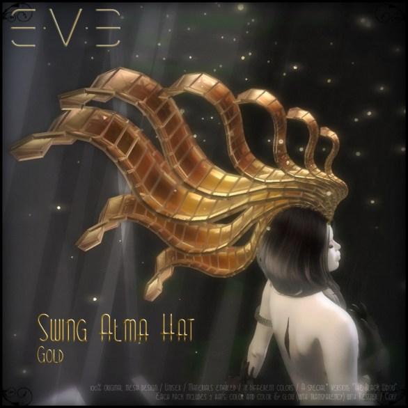 E.V.E (V) Swing Alma Hat GOLD