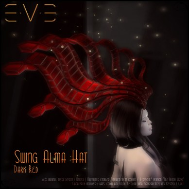 E.V.E (V) Swing Alma Hat RED DARK
