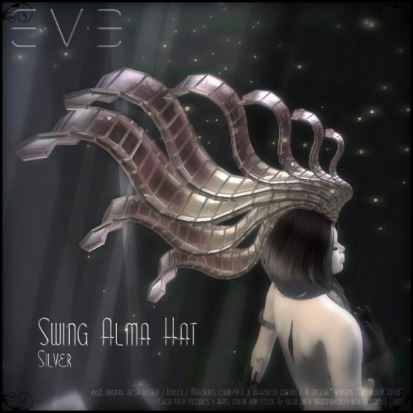 E.V.E (V) Swing Alma Hat SILVER