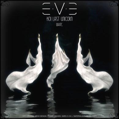 E.V.E {V-KOI} Last Unicorn White