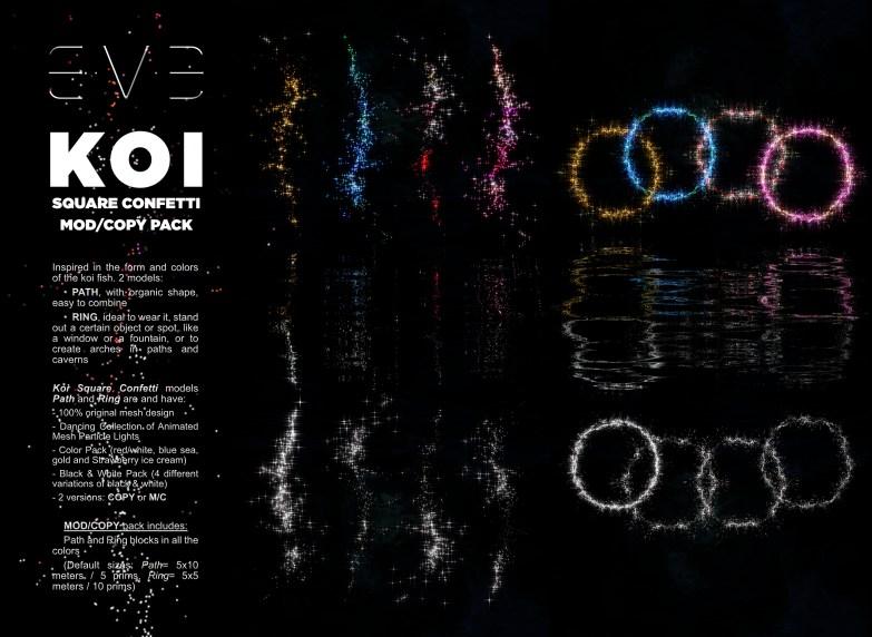 E.V.E {V-MOD} KOI Square Confetti