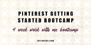 Join me on my 4 week Pinterest Start-Up Bootcamp! This work with me bootcamp is for small business owners wanting to start using Pinterest marketing for their small business. Run over four weeks, we will work together to set up your Pinterest Business account so that you can start seeing targeted traffic from Pinterest.