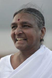 A photo of the Indian yoga teacher Geeta Iyengar