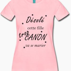 T-shirt fille canon
