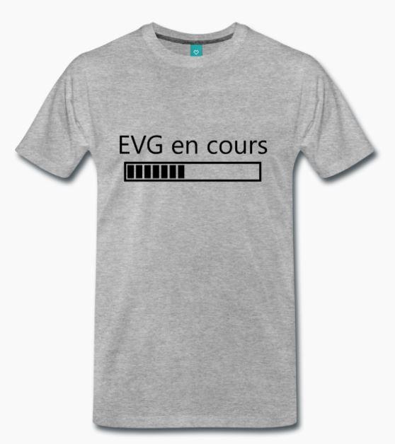 T-Shirt gris EVG en cours