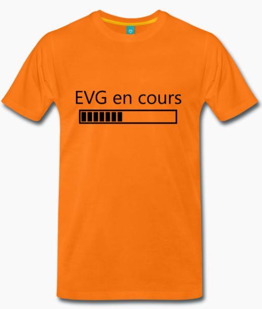 T-Shirt orange EVG en cours