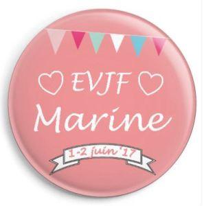20 badges personnalisés EVJF