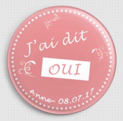 Badge personnalisé EVJF J'ai dit oui