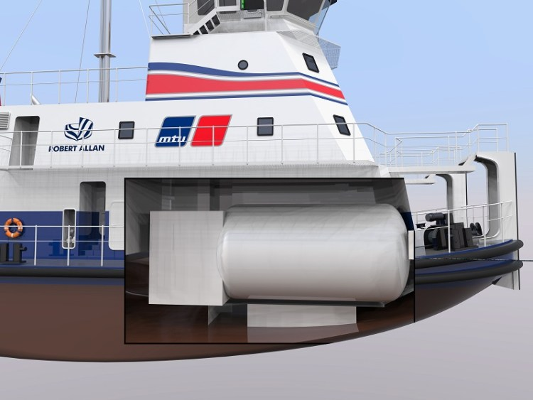Rolls-Royce and Robert Allan present the world's first LNG-powered shallow-water push boat Gas_Pushboat_cutaway